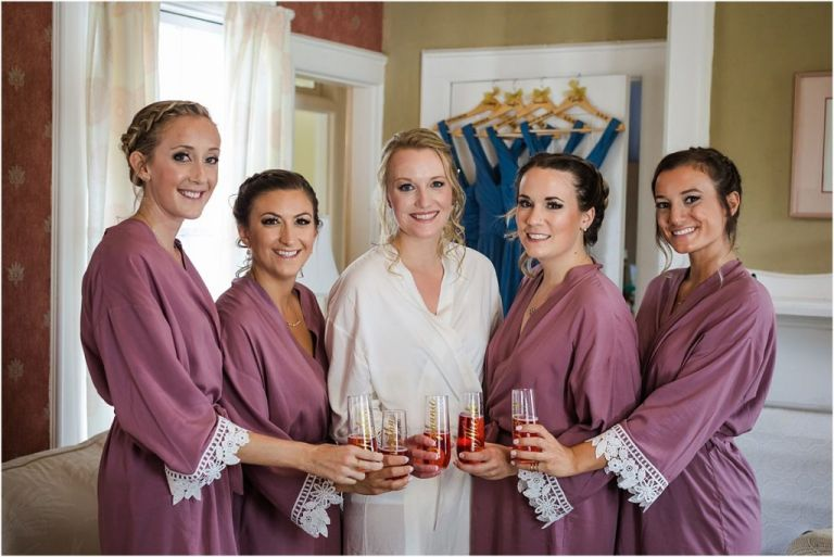 Bridesmaids toast at Abbie Holmes Estate Wedding