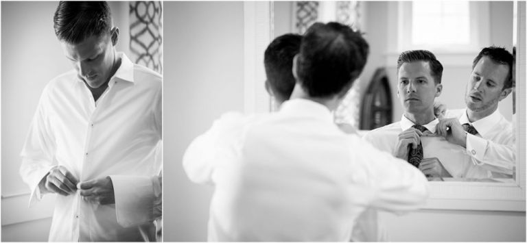 NJ groom prep for Ocean City Yacht Club Wedding