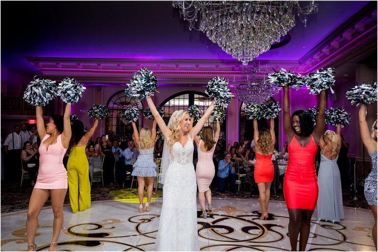 Eagles Cheerleader wedding