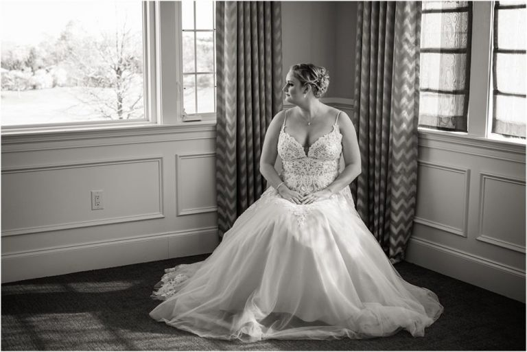 NJ Bride portrait ac country club