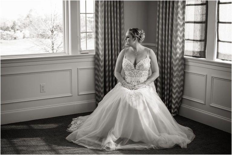 NJ Bride portrait ac country club