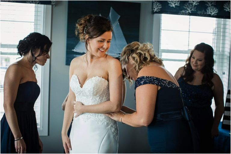 Bridal Prep at Yacht Club of Sea Isle City Wedding