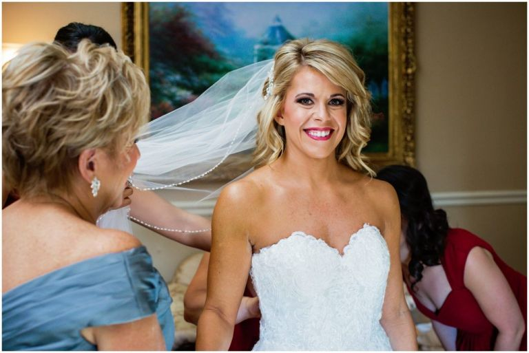 NJ Bride getting ready for wedding