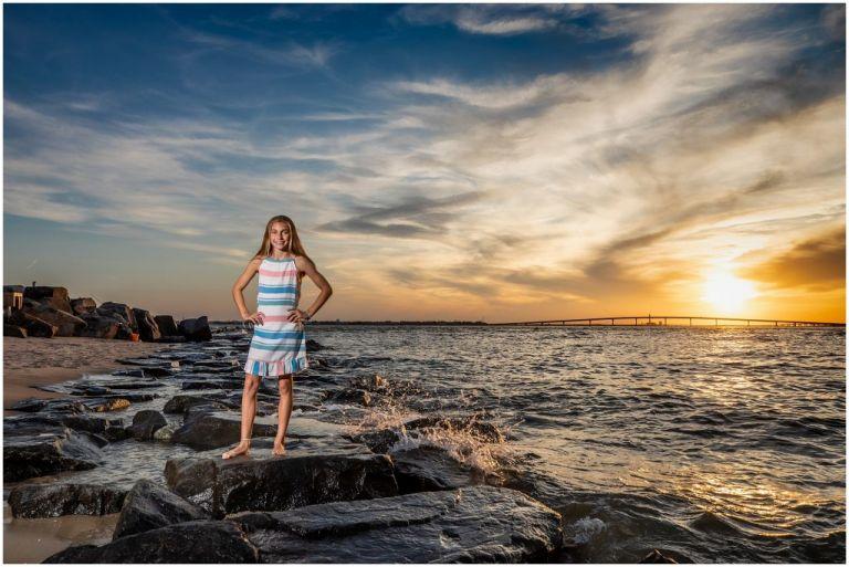 Longport Sunset Family Photographer