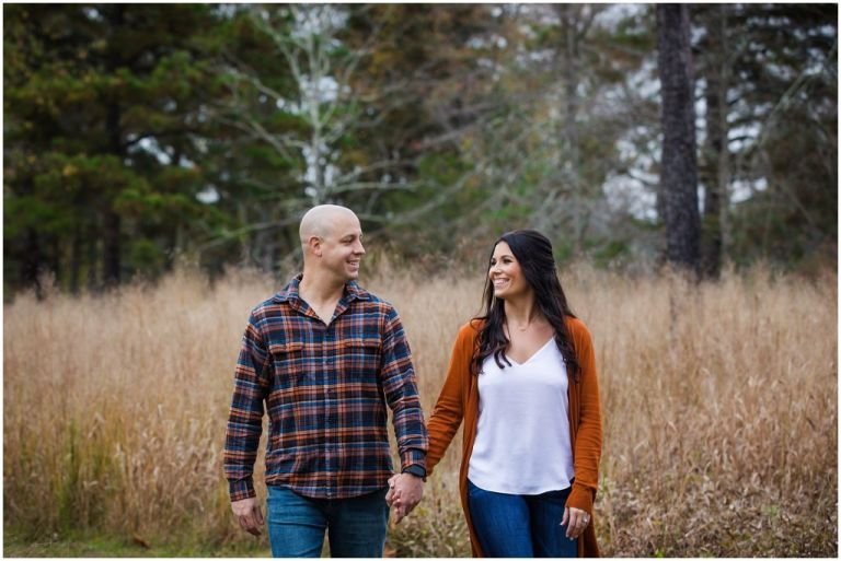 Natural engagement photo at Batsto Village in South Jersey