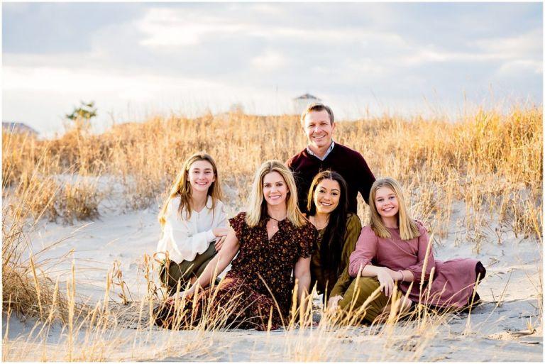 Family Photo on the beach in Ocean City NJ