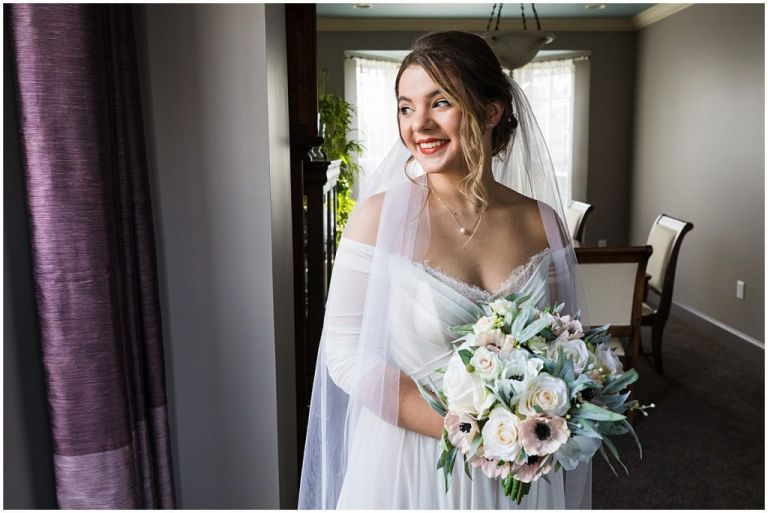 Bride getting ready for NJ Wedding