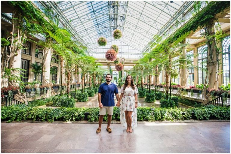 Longwood Gardens Engagement Session